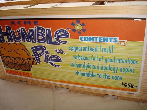 recipe for humble pie